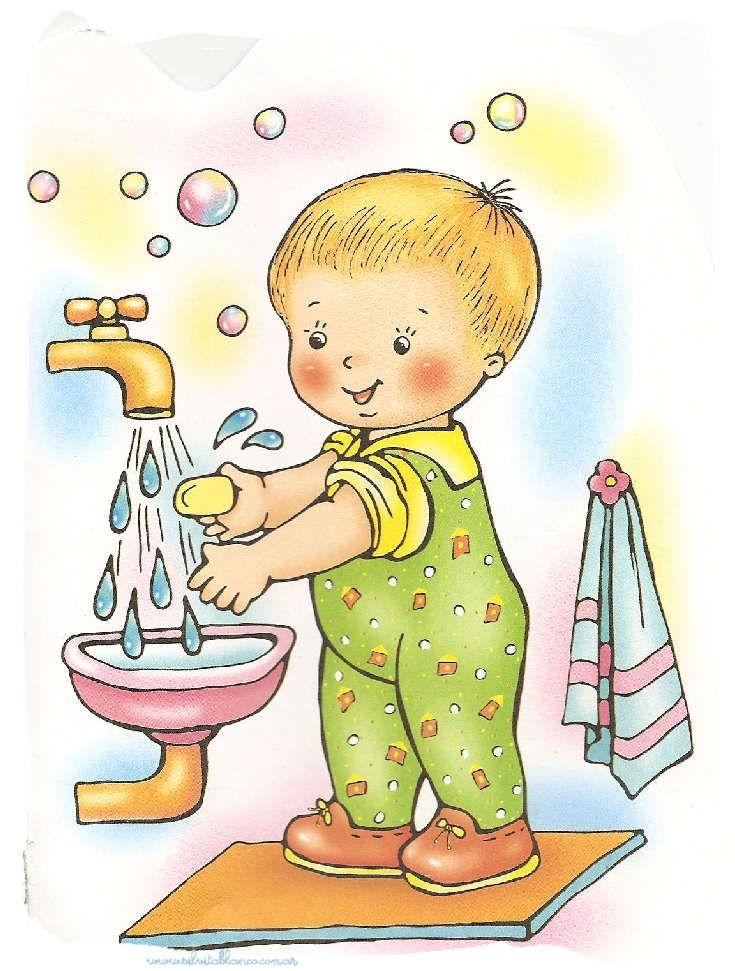 Умывание детские картинки